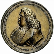 Medal - Peter I (Honoring Count Feodor Alexeevich Golovin) – obverse