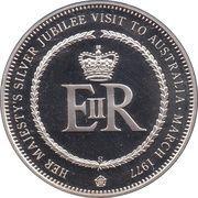 Medal - Elizabeth II (Silver Jubilee Visit) – reverse