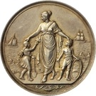 Medal - Wilhelm I (Opening of the holiday camps at the Baltic Sea; Prussia) – reverse