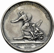 Medal - Rodomysl of the 19th Century (Napoleon's Escape over the Nieman River) – reverse