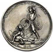 Medal - Rodomysl of the 19th Century ( Battle of Arcis-sur-Aube) – reverse