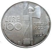 100 Lire (Mussolini) – reverse