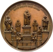 Establishment of the Luther monument (Worms) – obverse