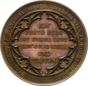 Establishment of the Luther monument (Worms) – reverse