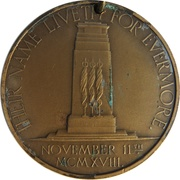 Medal - Unveiling of the Cenotaph, Whitehall – obverse