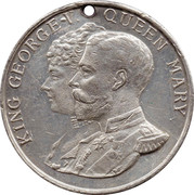 Medallion - King George V and Queen Mary (Silver Jubilee) – obverse