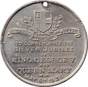Medallion - King George V and Queen Mary (Silver Jubilee) – reverse
