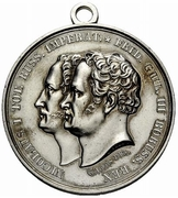 Medal - Nicholas I (The Grand Review of Kalisch) – obverse