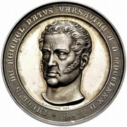 Medal - For Jakob Reichel upon the opening of the New Hermitage – obverse