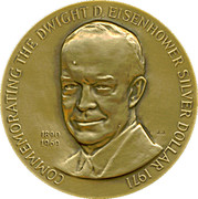 Medal - Dwight D. Eisenhover Dollar – obverse