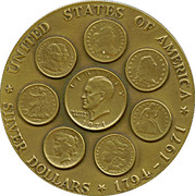 Medal - Dwight D. Eisenhover Dollar – reverse
