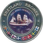 5 Kroner (Sorlandet, Norway) – obverse