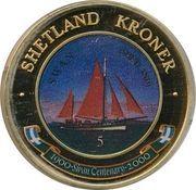 5 Kroner (Swan, Shetland) – obverse