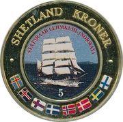 5 Kroner (Statsraad Lehmkuhl, Norway) – obverse