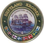 5 Kroner (Kruzenshtern, Russia) – obverse