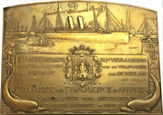 Plaquette - 50 years of shipping in the Scheldt river (Antwerp) – reverse