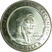 1 Dollar (Chief Tecumseh) – reverse