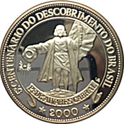 1 oz Silver (5th Centenary of Brazil Discovery) – obverse