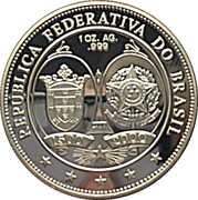 1 oz Silver (5th Centenary of Brazil Discovery) – reverse