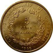 5 Lire (Lega Lombarda) – reverse