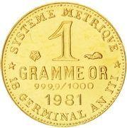1 gram Gold (Germinal) – reverse