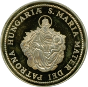 5 oz silver (Madonna with child) – reverse
