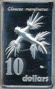 10 Dollars - Elizabeth II (Glaucus marginatus) – reverse