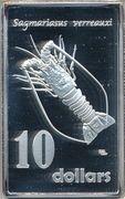 10 Dollars - Elizabeth II (Sagmariasus verreauxi) – reverse