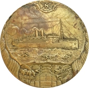 Medal - 50 years existence of the Stoomvaart Maatschappij – obverse