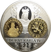 Medal - History of the Czech currency (Dukát - Charles IV) – reverse