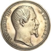 Medal - Napoleon III (Visit of Queen Victoria to Boulogne-sur-Mer in France) – obverse