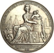 Medal - Napoleon III (Visit of Queen Victoria to Boulogne-sur-Mer in France) – reverse