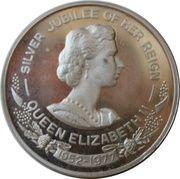 Medal - Queen Elizabeth II (Silver Jubilee visit to Australia) – obverse