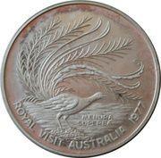 Medal - Queen Elizabeth II (Silver Jubilee visit to Australia) – reverse