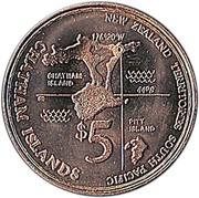 5 Dollars (Millennium) – reverse