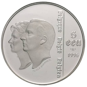 5 Écu - Albert II (UNICEF Anniversary) -  obverse