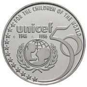 5 Écu - Albert II (UNICEF Anniversary) -  reverse