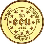 10 Écu - Baudouin I (Treaties of Rome) – reverse