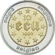 10 Écu - Baudouin I (60th Birthday of Baudouin I) – reverse