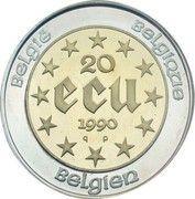 20 Écu - Baudouin I (60th Birthday) – reverse