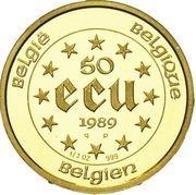 50 Écu - Baudouin I (Charlemagne) – reverse