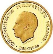 50 Écu - Baudouin I (Presidency of the EU) – obverse