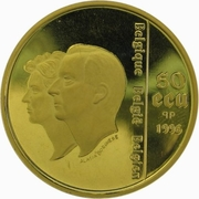 50 Écu - Albert II (UNICEF Anniversary) – obverse
