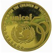 50 Écu - Albert II (UNICEF Anniversary) – reverse