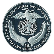 14 Écu (International Day of Peace) – reverse