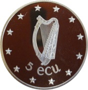 5 ECU (EEC Council meeting in Dublin) – reverse