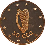 50 ECU (EEC Council Meeting in Dublin) – reverse