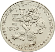 10 ECU - Beatrix (Johan Maurits van Nassau-Siegen) -  obverse