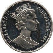 2.8 ECUs - Elizabeth II (Europa) – obverse