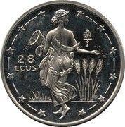 2.8 ECUs - Elizabeth II (Europa) – reverse